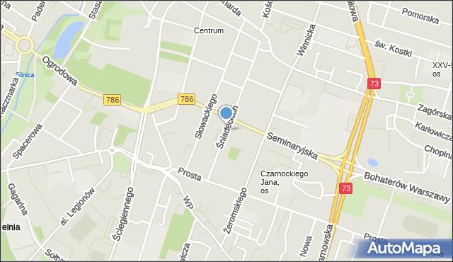 Kielce, Śniadeckich, mapa Kielc