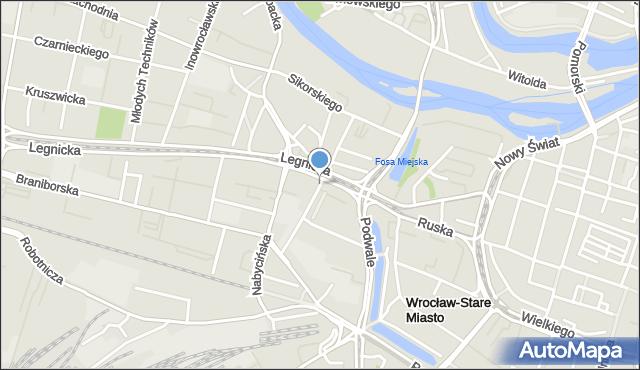 Wrocław, Sokolnicza, mapa Wrocławia