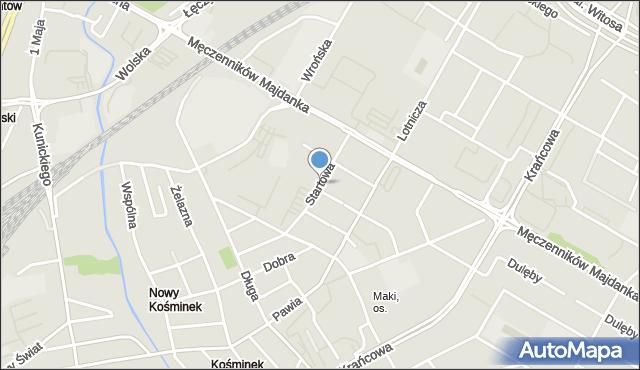 Lublin, Startowa, mapa Lublina