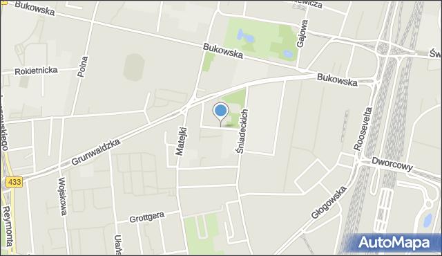 Poznań, Stolarska, mapa Poznania