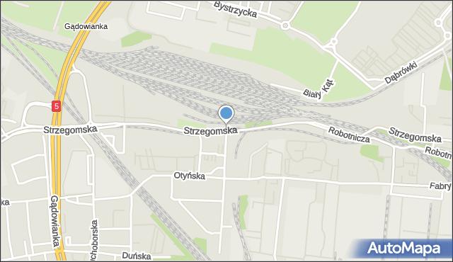 Wrocław, Strzegomska, mapa Wrocławia
