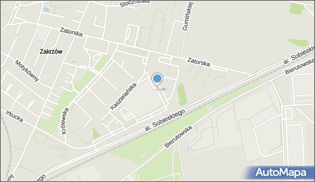 Wrocław, Staropolska, mapa Wrocławia