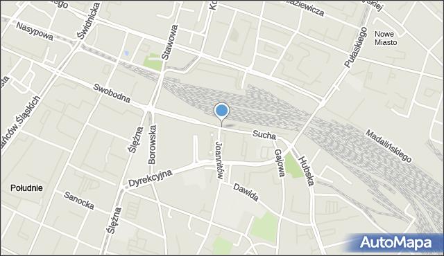 Wrocław, Sucha, mapa Wrocławia