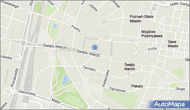 Poznań, św. Marcin, mapa Poznania