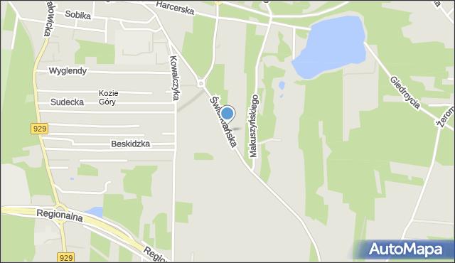 Rybnik, Świerklańska, mapa Rybnika