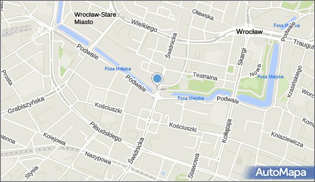 Wrocław, Świdnicka, mapa Wrocławia