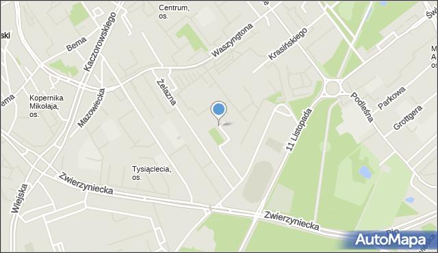 Białystok, Szpitalna, mapa Białegostoku