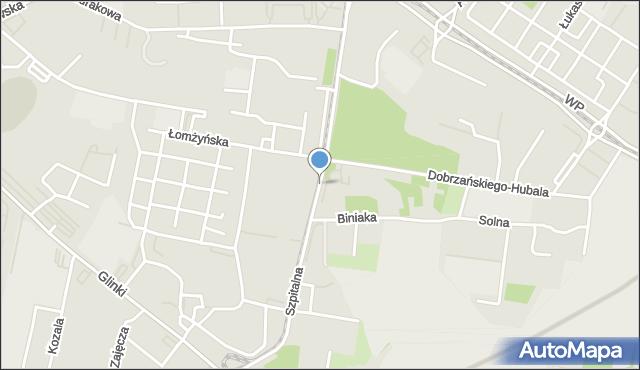 Bydgoszcz, Szpitalna, mapa Bydgoszczy