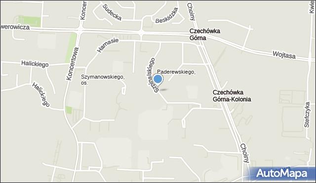 Lublin, Szpinalskiego Stanisława, mapa Lublina