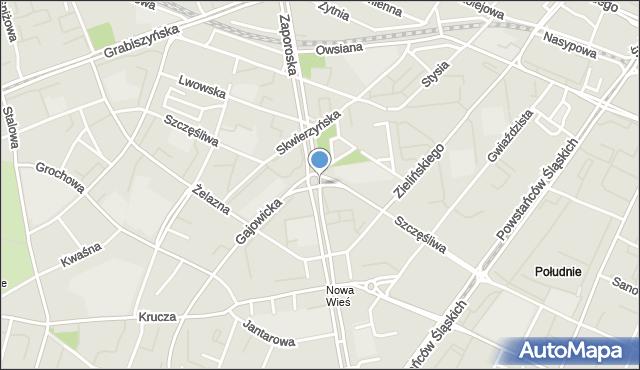 Wrocław, Szczęśliwa, mapa Wrocławia