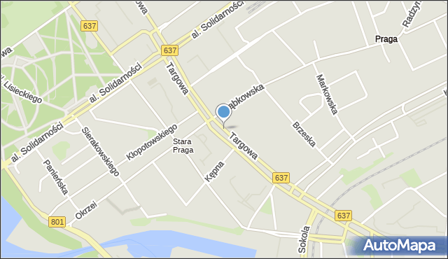 Warszawa, Targowa, mapa Warszawy