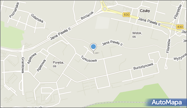 Lublin, Turkusowa, mapa Lublina