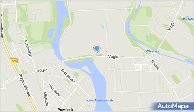 Warszawa, Vogla Zygmunta, mapa Warszawy