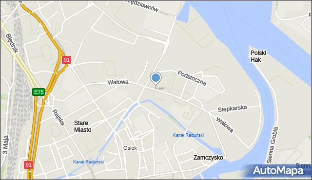 Gdańsk, Wałowa, mapa Gdańska