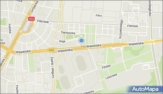 Warszawa, Wawelska, mapa Warszawy