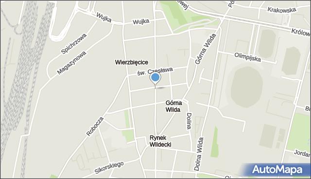 Poznań, Wierzbięcice, mapa Poznania