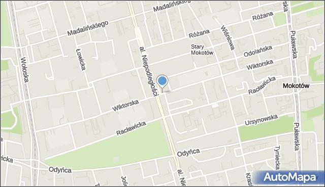 Warszawa, Wiktorska, mapa Warszawy