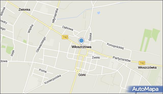 Włoszczowa, Włoszczowa, mapa Włoszczowa