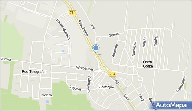 Kielce, Wojska Polskiego, mapa Kielc