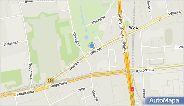 Warszawa, Wolska, mapa Warszawy