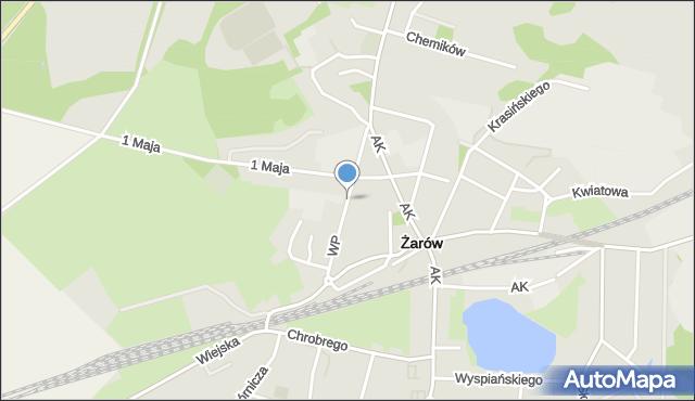 Żarów, Wojska Polskiego, mapa Żarów