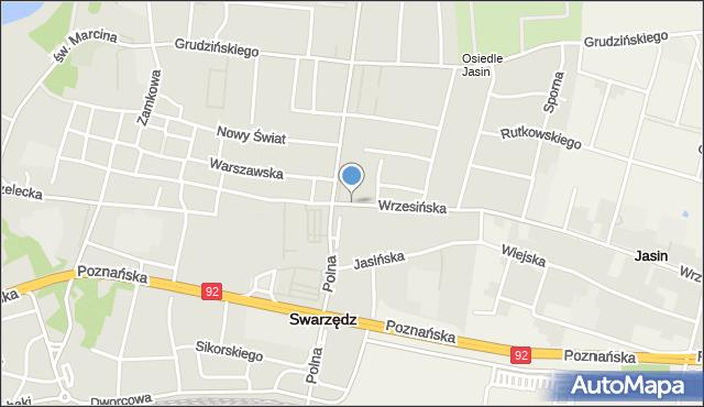 Swarzędz, Wrzesińska, mapa Swarzędz