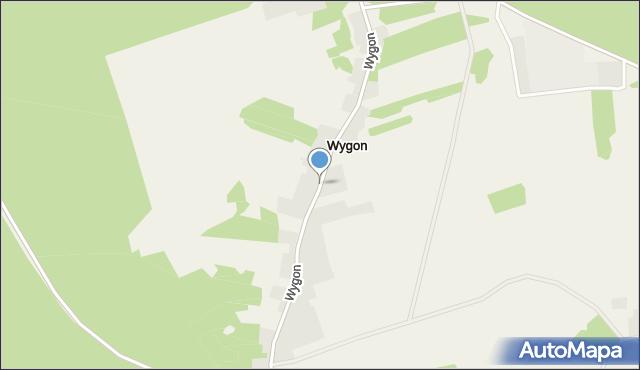 Bierzwnik, Wygon, mapa Bierzwnik