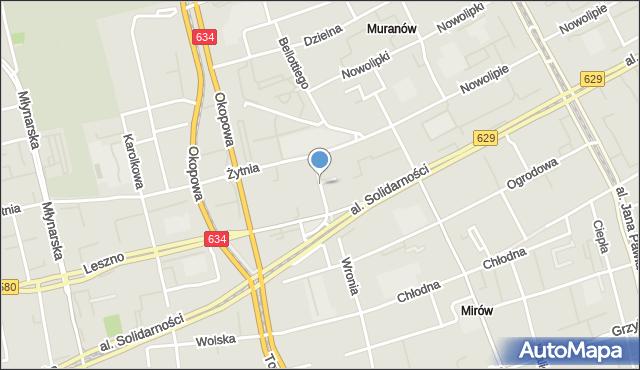 Warszawa, Wyszyńskiego Stefana, ks., kard., skwer, mapa Warszawy
