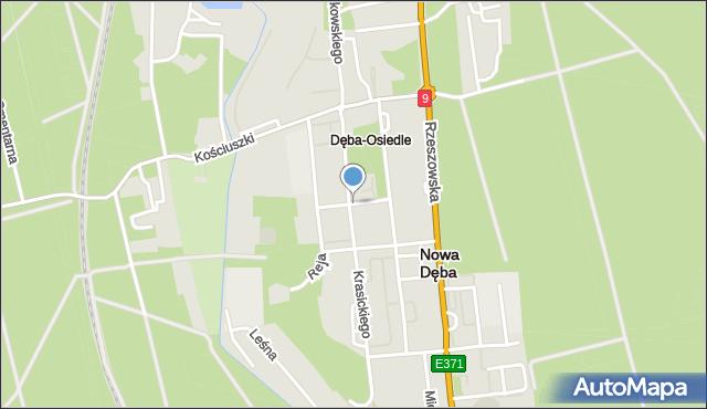 Nowa Dęba, Żeromskiego Stefana, mapa Nowa Dęba