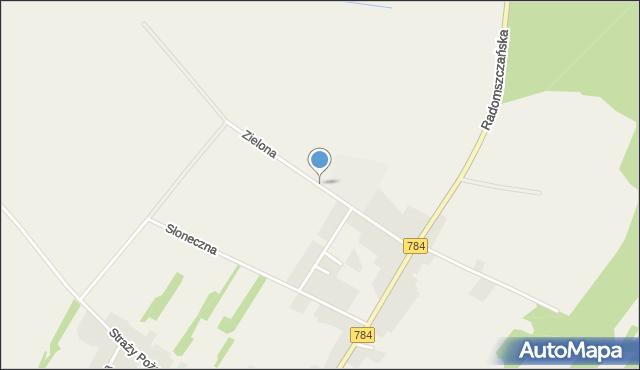 Dąbrowa Zielona, Zielona, mapa Dąbrowa Zielona