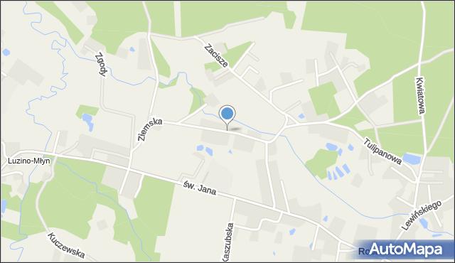 Robakowo, Ziemska, mapa Robakowo
