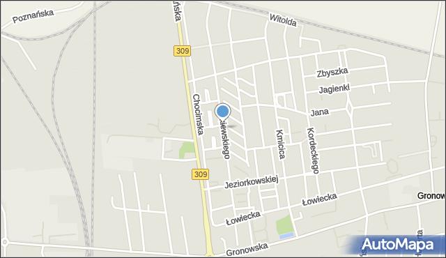 Leszno, Żółkiewskiego Stanisława, mapa Leszno