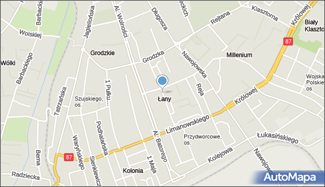 Nowy Sącz, Żółkiewskiego Stanisława, mapa Nowego Sącza
