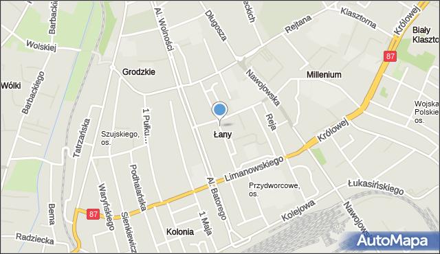 Nowy Sącz, Żółkiewskiego Stanisława, hetm., mapa Nowego Sącza