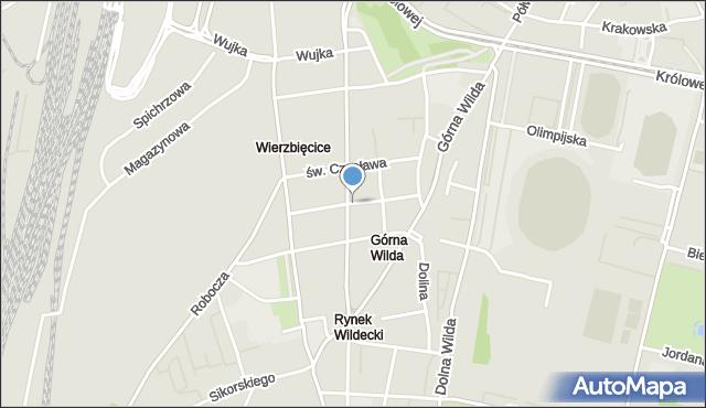Poznań, Żupańskiego Jana, mapa Poznania