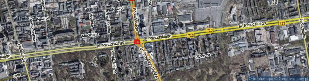 Zdjęcie satelitarne Aleja Piłsudskiego Józefa, marsz.