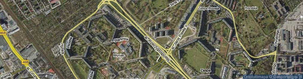 Zdjęcie satelitarne Aleja Rzeczypospolitej