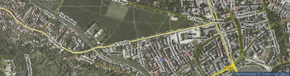 Zdjęcie satelitarne Aleja Focha Ferdynanda, marsz. al.