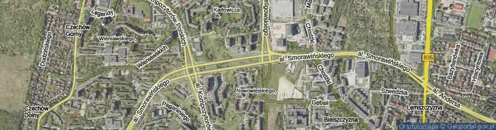 Zdjęcie satelitarne Aleja Smorawińskiego Mieczysława