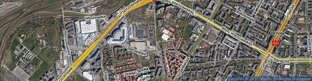 Zdjęcie satelitarne Aleja Bohaterów Września