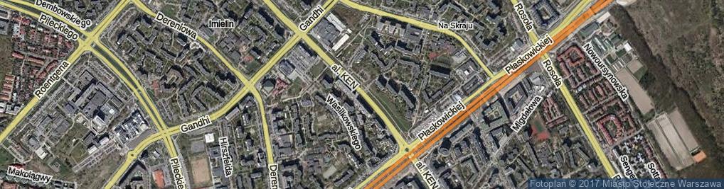 Zdjęcie satelitarne Aleja Komisji Edukacji Narodowej