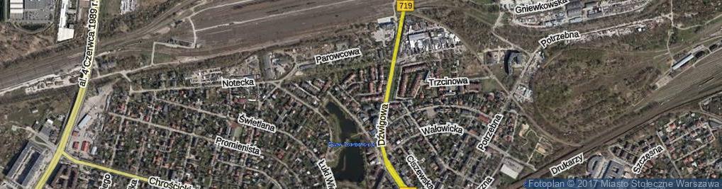 Zdjęcie satelitarne Atlasowa ul.