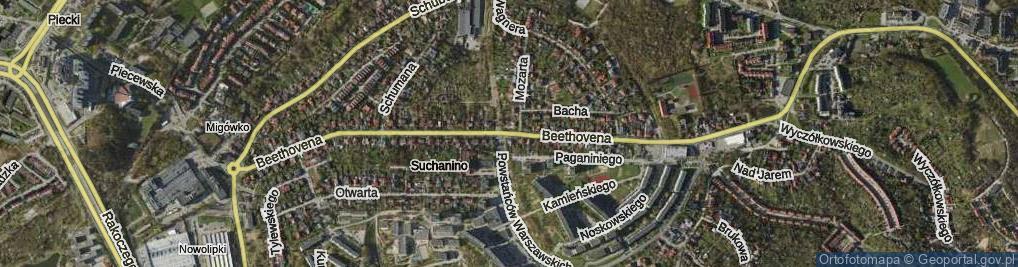 Zdjęcie satelitarne Beethovena Ludwika