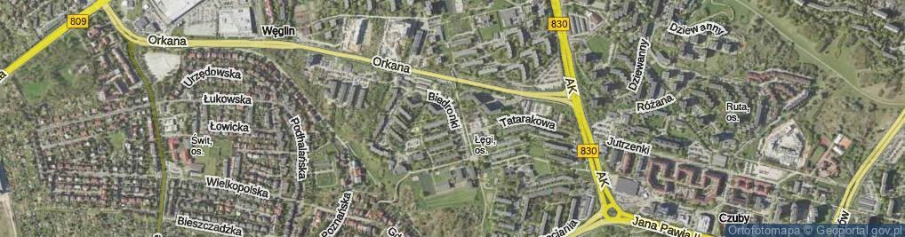 Zdjęcie satelitarne Biedronki