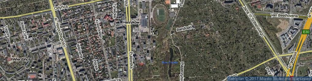 Zdjęcie satelitarne Bielawska ul.