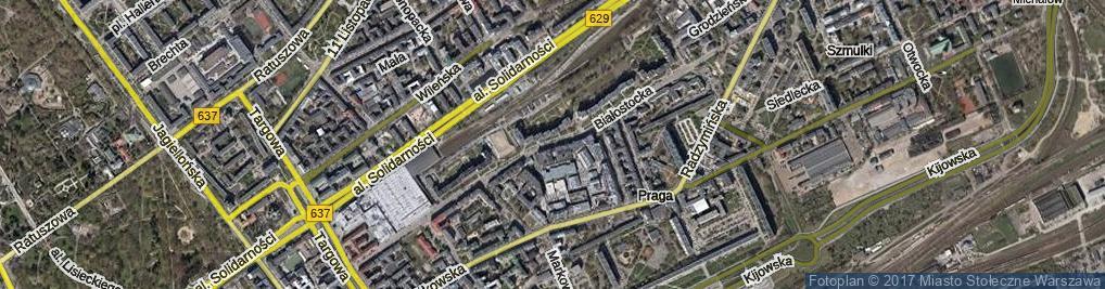 Zdjęcie satelitarne Białostocka