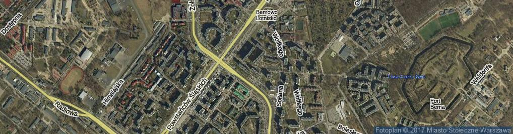 Zdjęcie satelitarne Blatona Jana