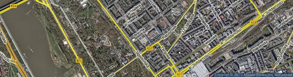 Zdjęcie satelitarne Borowskiego Tadeusza ul.