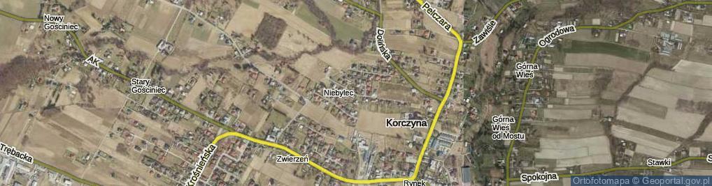 Zdjęcie satelitarne Brzozowa