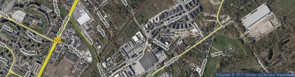 Zdjęcie satelitarne Bukowiecka